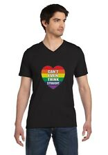 Gay Love - Can't Even Think Straight Gay & Lesbian Pride V-Neck T-Shirt Gift