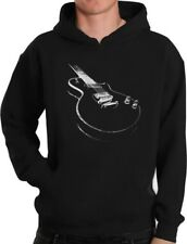 Gift for Guitarist Cool Musician Electric Guitar Printed Hoodie Guitar player