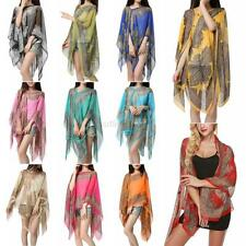 Summer Long Soft Scarves Shawl Neck Wrap Scarf Stole Scarves Chiffon Sunscreen