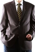 MENS SINGLE BREASTED TWO BUTTON WOOL RICH BROWN SPORT COAT, J46012S-094-BRO