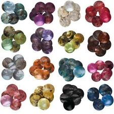 50pcs Mussel Shell Flat Round Coin Charm Beads 18mm