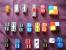 SETS OF BOARD GAME DICE  MONOPOLY , CLUEDO , PICTIONARY ETC   6 SIDED