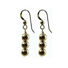6mm Ball Beads Earrings 14k Gold filled(1/20 of 14k) 3pc 6mm beads. French Wire