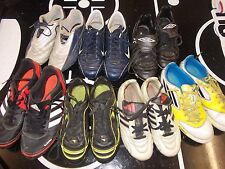 7 PAIRS FOOTBALL BOOTS MIXED STUDS  SIZES 1 TO 6 ADDIDAS NIKE ETC CAR BOOT