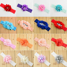Up Toddler Newborn Baby Girl Chiffon Flower Headband Hair Band Hair Accessories