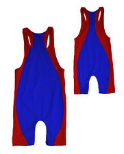 MENS SOLID RACERBACK WRESTLING SINGLET WITH RACING STRIPE SIZE XS, S, M, L NWOT