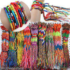 Wholesale 10-100Pcs Jewelry Braid Strands Friendship Cords Handmade Bracelets