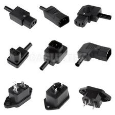 IEC C13 C14 Female Male 250V AC Socket Plug Connector Adapter Outlet Receptacles