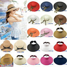 Casual Women's Summer Beach Holiday Wide Brim Floppy Foldable Sun Straw Hat Caps