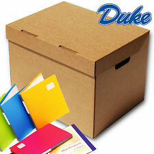 """Archive Storage Document  Boxes A4 Size, Integral Lid with Handles 15 x 12 x 9"""""""