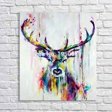 Modern Abstract hand-painted Oil Painting Wall Decor canvas,Deer 60x70cm