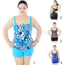 Ladies Two Piece Swimwear Swimsuit Boy Shorts Women Bathing Suit Tankini Large
