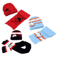 Red Baby Boy Girl Toddler Winter Ladybird Ladybug Hat and Scarf Set CP