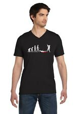 Zombie Evolution Funny Halloween V-Neck T-Shirt Walking Dead