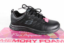 Skechers Women's Sport Shoes Lace-up Loafers Sneakers trainers black new