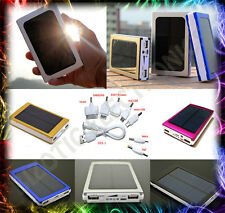 Dual Solar Power Bank USB Portable Slim - 30000mAh Battery Charger IPhone Mobile