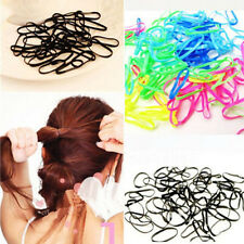 400pcs Women's Rubber Rope Ponytail Holder Elastic Hair Band Ties Braids Plaits