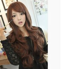 Sexy Womens Girls Fashion Wavy Curly Long Hair Full Wigs Cosplay Party Wig PO136