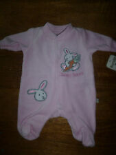 FREE P&P PINK   VELOUR ALL IN ONE  EARLY BABY 3/5 LBS, 5/8 LBS NEWBORN,