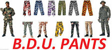 Military Camo BDU Pants Army Tactical Combat Camouflage Fatigue Trousers