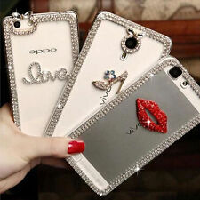 3D Shine luxury Bling Transparent Clear Crystal Soft Gel Back Case Cover skin #5
