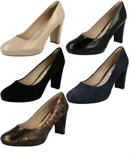 Ladies Clarks Leather / Patent Court Shoes - Kendra Sienna