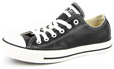 New Men's Converse Chuck Taylor Leather Ox Black/white Footwear Sneakers Shoes R