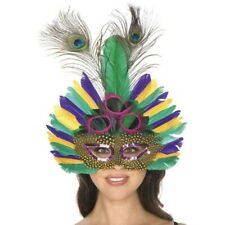 Adult Mardi Gras Peacock Feather Mask