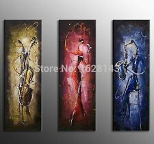 3pc Modern Abstract Dancer Hand Painted Canvas Oil Painting Home Decoration Art