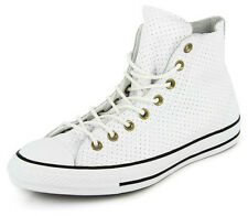 New Men's Converse Chuck Taylor Perf Leather Hi White/black Footwear Hi-top Snea