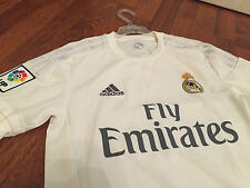 Real Madrid shirt adidas camiseta white home size S & M La Liga
