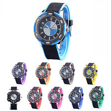 WOMAGE Rubber Unisex Fashion Style Wrist Quartz Watches  CP