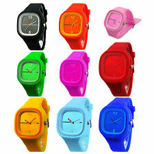 Unisex Colorful Jelly Silicone Fashion Quartz Wrist Watch  CP