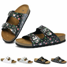 Womens Floral Sandals Two Buckle Straps Casual Slide Sandal Made in Korea 216 CA