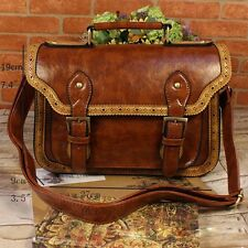 Vintage Women's Faux Leather Handbag Cross Body Satchel Purse Shoulder Totes New