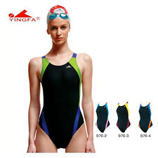 Yingfa women professional racing competition sport swimsuit one pieces swimwear