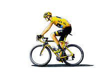 Chris Froome - Tour de France 2015 winner CANVAS PRINT