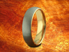 Brushed & Rose Gold Tungsten Band 6MM-Wedding Ring,Two Tone Ring,Anniversary!!!