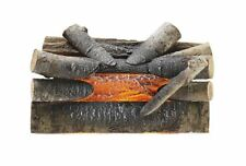 Fireplace Logs 20 in. Electric Crackling Wood Glowing Embers Effect Decor
