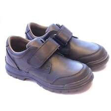 Boys Smart & Durable Black Leather School Shoes | Geox William | Breathable sole