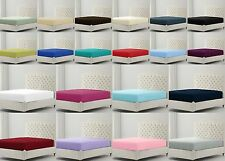 Percale Fitted Bed Sheets Cotton Rich 180TC Single Double King Super King Size