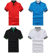 New Fashion Men's Short Sleeve Polo Shirt Slim Fit T-Shirts Cotton Casual Shirts