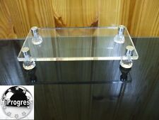 Square Rectangular Clear Acrylic Riser Stand Display Holder Shelf Tray Support