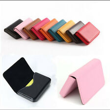 Hot Business ID Credit Card Wallet Holder PU Leather Pocket Case Box