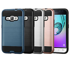For Samsung Galaxy Express 3 Case Brushed Texture Dual Layer Protective Cover