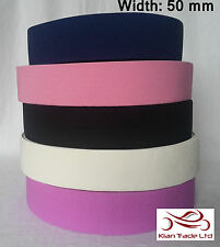 50mm TWILL ELASTIC WAISTBAND TAPE craft sewing dress making tailoring stretch