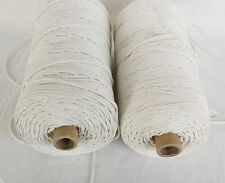 2mm 3mm POLYESTER BRAIDED WHITE CURTAIN BLIND PULL CORD MULTI UTILITY ROPE