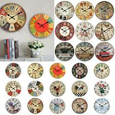 Vintage Rustic Shabby Chic Retro Wooden Digital Wall Clock Decor Gifts 25 Types