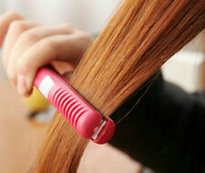 Comb Pink Straightening Mini Iron Curls Ceramic Electronic Hair Straightener