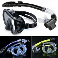 Scuba Diving - Diving Mask Snorkel Glasses Set Silicone Swimming Pool Equipment